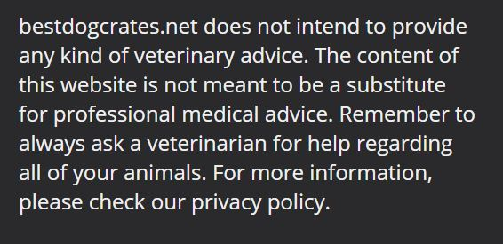 veterinary disclaimer